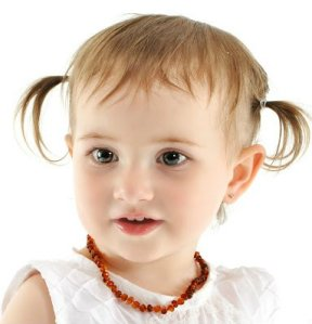 Spark of Amber Firefly Round Beaded Baltic Amber Teething Necklace